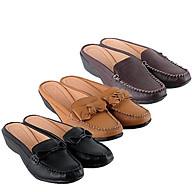 Giày sabo nữ da bò màu da, đen, nâu đất HC7935-36-37 thumbnail