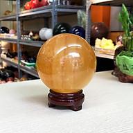 Quả cầu phong thủy đá Canxit vàng Roxi 2A thumbnail