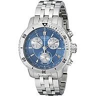 Tissot Men s T0674171104100 PRS 200 Blue Chronograph Dial Watch thumbnail
