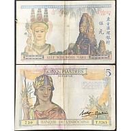 Tiền Xưa Đông Dương 5 Đồng Vàng Piastres Gò Mối Thần Marianne 1932-1936 [Tiền Cổ Xưa Sưu Tầm] thumbnail
