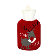 Winter Hot-Water Bag Children Lovely Mini Hand Warmer Explosion-Proof Hot Water Bottle with Cartoon Pattern Knitted thumbnail