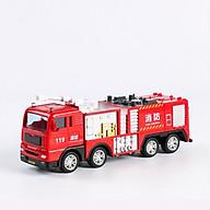 Xe đồ chơi mô hình xe cứu hỏa chở nước DLX, nhựa ABS an toàn, chi tiết sắc sảo (hàng nhập khẩu) thumbnail