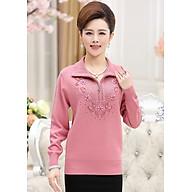 Áo len trung niên kiểu áo len đẹp phối dây kéo đính cườm GOTI0309310 thumbnail
