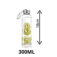 Bình đựng nước thuỷ tinh có nắp kèm dây xách dung tích 300ml 500ml thumbnail