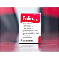 Viên uống bổ sung Acid Folic và những chất dinh dưỡng thiết yếu cho phụ nữ dự định mang thai, phụ nữ đang mang thai Folio forte - Hộp 30 viên - Hộp màu đỏ thumbnail