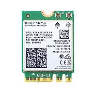 Card WIFI 6E Killer AX1675 sử dụng cho laptop hỗ trợ 3 băng tần tích hợp Bluetooth 5.2 - Hàng nhập khẩu thumbnail