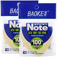 Bộ 2 Xấp Giấy Note Tim 4 Màu Baoke 2006 - 76 x 76 mm (100 sheets Xấp) thumbnail