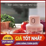 Máy Xay Mini Cầm Tay Đa Năng_ Dung Tích 250ml,Sạc Pin Cao Cấp Xay Tỏi Ớt, Hành, Rau Củ Quả Tiện Dụng thumbnail