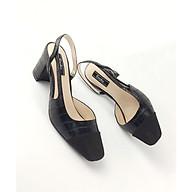 Giày Nữ Sandal Mũi Nhọn Gót Vuông Si Cao Cấp 5 Phân Enako TP13283 thumbnail