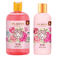 Combo Sữa tắm 500ml và Dưỡng thể 250ml Purite De Provence Hoa Hồng thumbnail