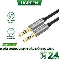 Dây Audio 3.5mm tròn mạ vàng 24K, TPE cao cấp UGREEN AV119 - Hàng chính hãng thumbnail