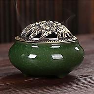 Lư Xông Trầm Hương Nắp Đồng - Tặng Kèm 10 nụ trầm hương - nhiều màu lựa chọn thumbnail