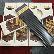 Hộp 10 đôi đũa ăn hợp kim mạ vàng Hàn Quốc thumbnail