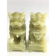 Cặp Kỳ Lân đá Ngọc xanh - cao 10cm - Nặng 1kg cặp thumbnail