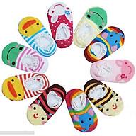 Bộ 10 đôi tất hoạt hình chống trơn cho bé tập đi (3-4 tuổi) thumbnail