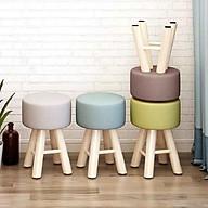 Ghế đôn sofa ngồi trang điểm, phòng khách, quán cafe, ghế cao 42cm đường kính mặt ghế 28cm, lớp đệm sofa dày 13cm, chọn màu ngẫu nhiên thumbnail