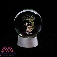 Quà Tặng Sinh Nhật Quả Cầu Pha Lê 3D LED Cung Bọ Cạp Scorpio 6cm thumbnail
