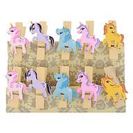 Bộ Kẹp Ảnh Gỗ - Unicorn (10 Cái) thumbnail