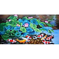 Tranh thêu chữ thập Cửu ngư quần hội (100x55cm) thumbnail