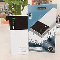 [BH 12 tháng 1 đổi 1] Sạc dự phòng samsung - Pin Sạc Dự Phòng SMART 20000 mAh 2 Cổng Sạc USB Tích Hợp Đèn LED + LED HIỂN THỊ % PIN thumbnail