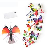 Bộ 12 con bướm cánh kép 3D dán tường trang trí cao cấp sáng tạo M2 thumbnail