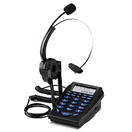 Call Center Telephone Dialpad Corded Telephone with Noise Cancelling Monaural Headset Clear Voice Quality Caller ID thumbnail