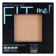 Phấn Mịn Lì Tự Nhiên Maybelline Fit Me Matte + Poreless Màu 220 Natural Beige 9g thumbnail