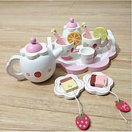 Bộ đồ chơi mô phỏng tiệc trà bằng gỗ cao cấp cho bé yêu đồ chơi đồ chơi gỗ tiệc trà bánh thumbnail