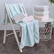 Combo 5 khăn tắm, gội đầu lông cừu Hàn Quốc cao cấp thumbnail