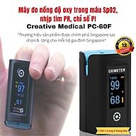Máy đo nồng độ oxy trong máu SpO2 và nhịp tim Creative Medical PC-60F, công nghệ MoveOxy Technology thumbnail