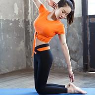 Bộ Quần Áo Tập Yoga Gym Nữ Cao Cấp, Form Chuẩn Tôn Dáng, Áo Croptop Có Mút - LUX62 thumbnail