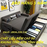 Giường Đa Năng Nệm Bọt Biển Tự Nhiên 1m91 x 1m60 Khung Thép Chịu Lực Kèm Ngăn Chứa Đồ Tiện Ích Giường Gấp Gọn Thành Ghế Sofa Giường Sofa Gấp Gọn thumbnail