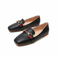 Giày công sở nữ cao cấp đế vuông cao 1 cm thumbnail