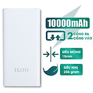 Pin Sạc Dự Phòng IKOO WK-155 Dung Lượng 10.000 mAh - Tích Hợp 2 Cổng Sạc USB - Hàng Nhập Khẩu thumbnail