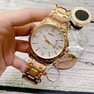 Đồng hồ dây kim loại thời trang nam Skmei Sk6909, mặt tròn kính cứng kèm lịch ngày sang trọng thumbnail