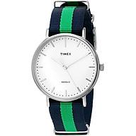 Timex Weekender Fairfield Blue Green Strap Minimal Dial Casual Watch TW2P90800 thumbnail