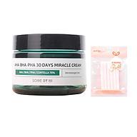 Kem Dươ ng Gia m Mu n Some By Mi AHA-BHA-PHA 30 Days Miracle Cream 50ml tặng kèm bông nở rửa mặt (giao màu ngẫu nhiên) thumbnail