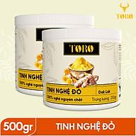 Bộ 2 Hũ Tinh bột nghệ đỏ TORO Curcumin - 100% tinh nghệ đỏ từ Dak Lak - 250g Hũ thumbnail