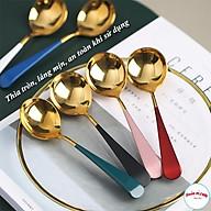 Thìa Inox Mạ Vàng Cán Dài Nhiều Mầu Sang Trọng-00945 thumbnail