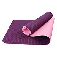 Thảm tập yoga TPE Đài Loan cao cấp 2 lớp (6mm) + Tặng túi đựng thảm với dây buộc (Màu ngẫu nhiên) thumbnail