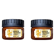 Siaonvr 2PC Hair Detoxifying Hair Mask Advanced Molecular Hair Roots Treatmen Recover thumbnail