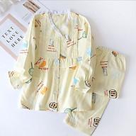 Đồ Bộ Pyjama Bầu Và Sau Sinh Dài Tay AZ2210 Chất Liệu Xô Nhật Mặc Mùa Hè Thu Có Thiết Kế Cho Con Bú Tiện Lợi thumbnail