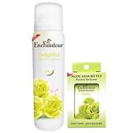 Combo Xịt khử mùi toàn thân Enchanteur Delightful 150ml +Nước hoa bỏ túi Delightful 18ml thumbnail