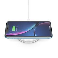 Đế sạc không dây cao cấp Belkin BOOST UP 10W chuẩn Qi, đế nằm, sạc nhanh cho iPhone 7.5W và Air Pods - F7U088bt - Hàng Chính Hãng thumbnail
