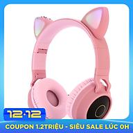 Tai Nghe Mèo Bluetooth, Headphone Tai Mèo Dễ Thương Có Mic,Âm Bass Mạnh Mẽ (màu ngẫu nhiên) thumbnail