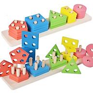 Bộ đồ chơi toán học que tính xếp hình bằng gỗ cho trẻ em thumbnail