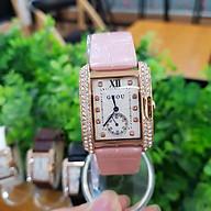 Đồng hồ nữ Guou chính hãng 8121 mặt vuông viền đá dây da kim rốn sang trọng chống nư thumbnail