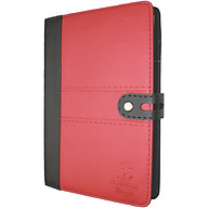 Sổ da khuy bấm 260 trang B5 Klong Bureau - TP345 màu đỏ thumbnail