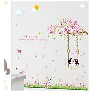 Decal dán tường tình yêu xích đu dễ thương cho bé LC7012AB thumbnail