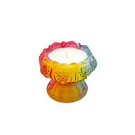 Nến Miss Candle Ly Hoa Sen Luli D9.8H7.7 Màu Đỏ thumbnail